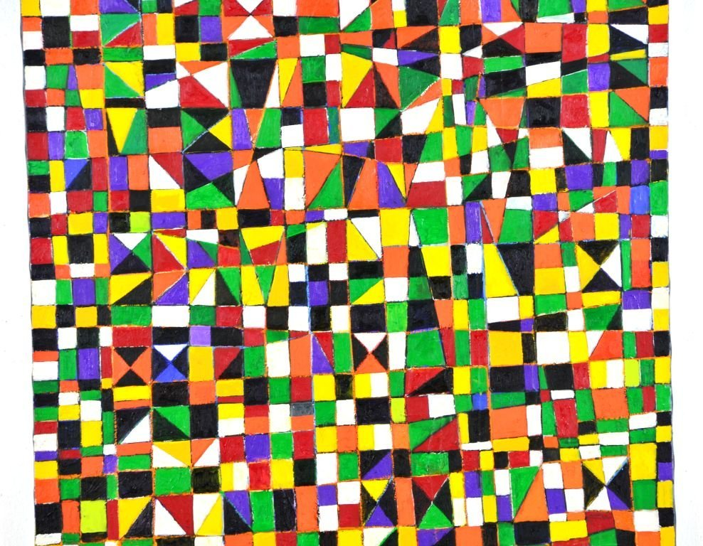 "Geometric Painting ""NDEBELE"" by Goncalo Ivo - 2"