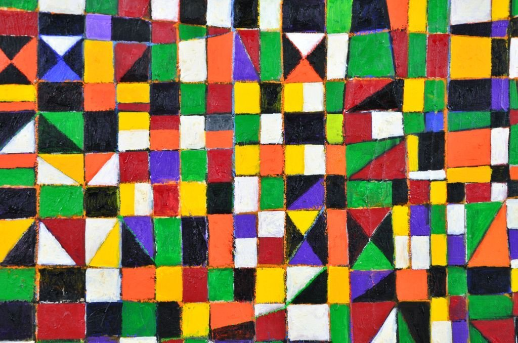 "Geometric Painting ""NDEBELE"" by Goncalo Ivo - 4"