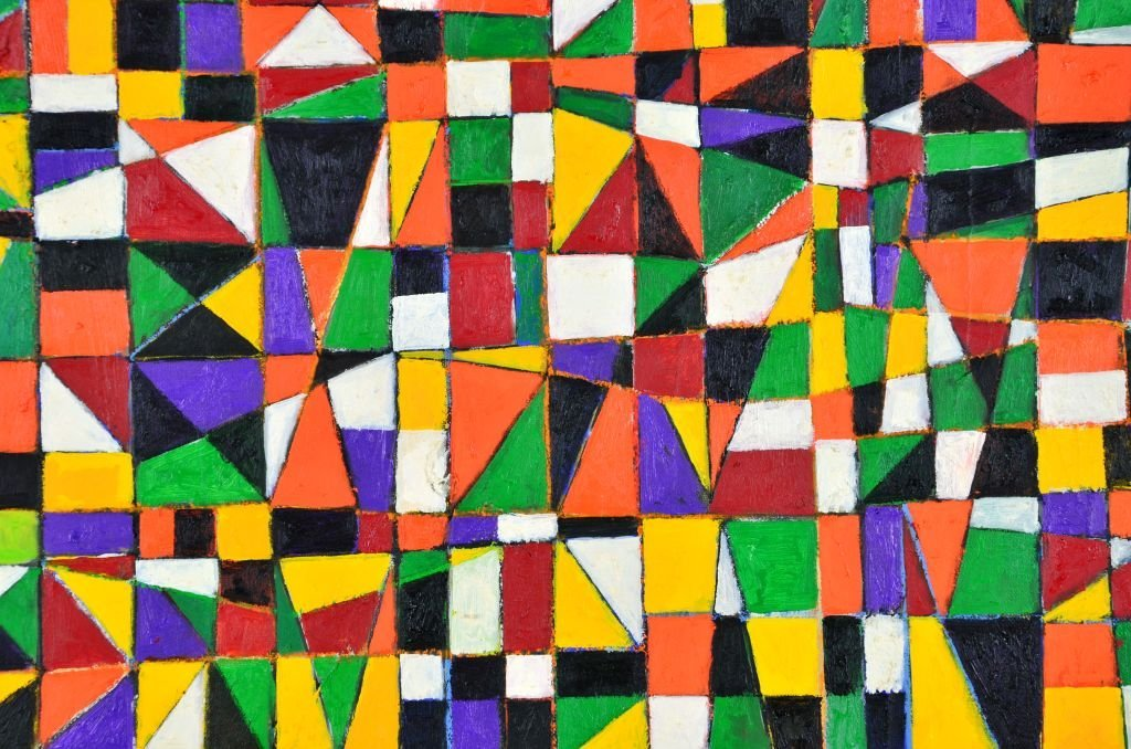 "Geometric Painting ""NDEBELE"" by Goncalo Ivo - 5"