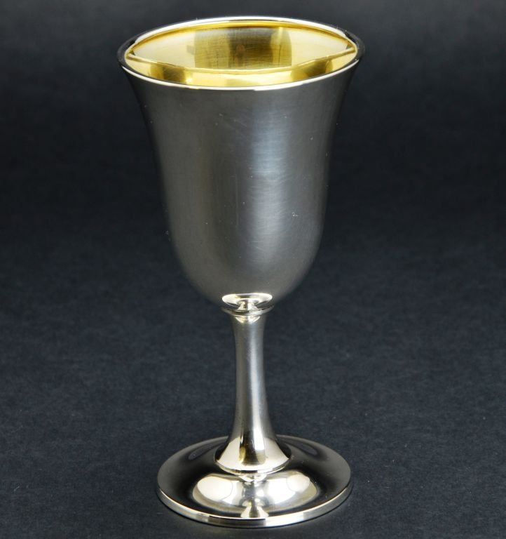 Set of 12 Wallace Sterling Silver Goblets, 57 Troy Oz - 2
