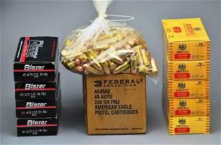 Bulk Ammo 700 Rounds of .45 Auto Federal, Blazer,