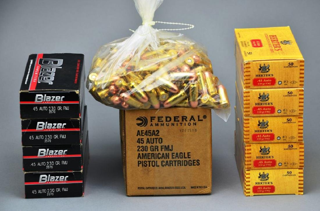 Bulk Ammo 700 Rounds of .45 Auto Federal, Blazer,