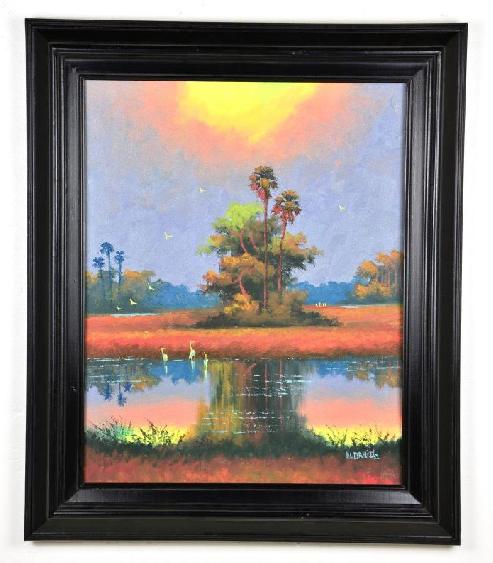 Oil on board by, Willie Daniels, Florida Landscape