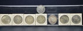 8 US Morgan & Peace Silver Dollar Coins