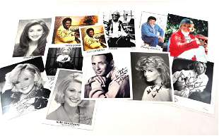 Lot of 11 Autographed Photos and Ephemera