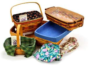 Lot of 5 Vintage Longaberger Baskets