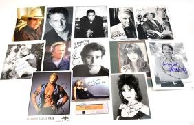 Lot of 14 Autographed Photos and Ephemera