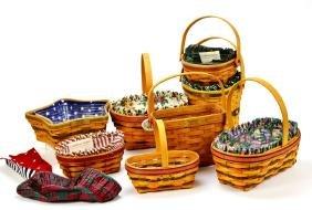 Lot of 8 Vintage Longaberger Baskets