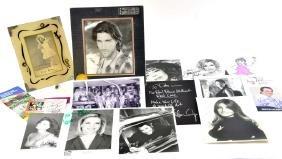 Lot of 13 Autographed Photos and Ephemera
