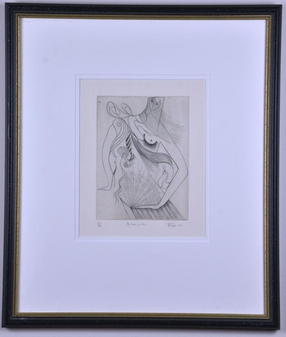 "Framed Etching ""Mother of All"",  by Hugo"