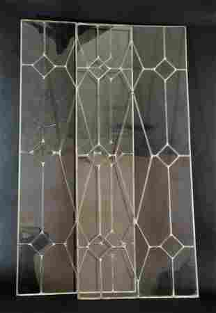 Antique Clear Glass Leaded Window Panels
