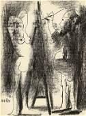 LE PEINTRE ET SON MODELE - Pablo Picasso