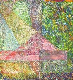 Sam Gilliam Abstract Screen Print Pencil Signed