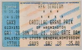 Cadillac Grand Prix Concert Ticket