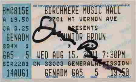 Signed Junior Brown Concert Ticket