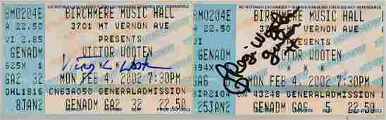 Signed Victor Wooten Concert Ticket