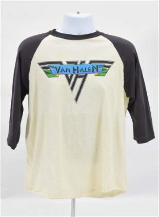 Original Vintage Van Halen Concert Tour T-Shirt