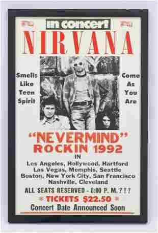 Nirvana in Concert Poster Framed