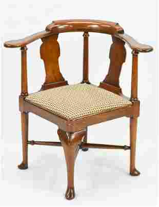 Antique George I Style Corner Chair