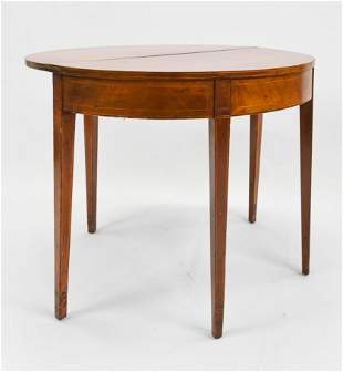 Antique 19th century Five Leg Demi-Lune Table