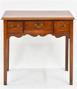 Antique Pine Three Drawer Tall Hall Stand Table