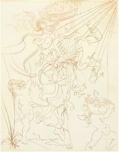 Framed Salvador Dali Original Lithograph Print