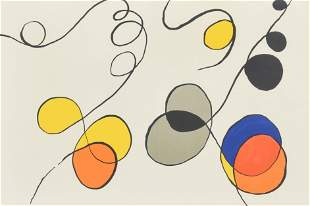 Original Alexander Calder Print: Stabiles and Circles