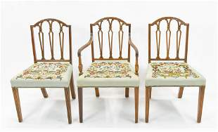 Sheraton Style Dining Chairs Set of 3
