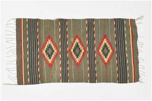 Antique Native American Wool Serape Blanket