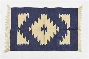 Vintage Native American STYLE Wool Rug Blanket