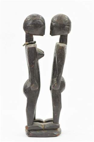 Mali Style African Carved Wood Statue Figure