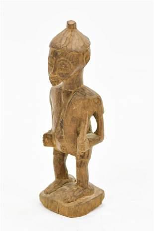 Old Carved Wood Baule African Ancestor Sculpture