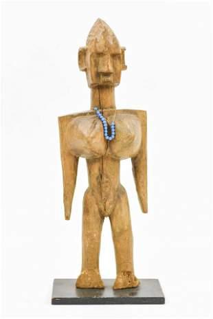African Carved Wood Senufo Female Sculpture Statue