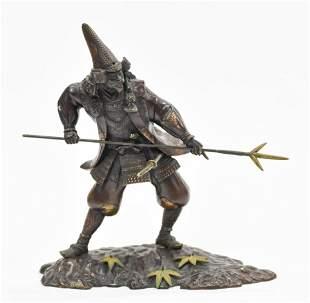 Mokume Gane Bronze Samurai