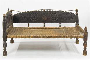 19th Century Swat Valley Himalayan Settee