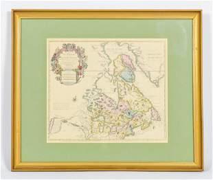 Vintage Map of Du Canada