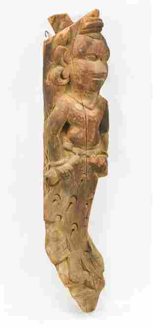 Hermed Wood Carving of a Bodhisattva