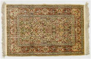Excellent Fine Design Persian Qom Oriental Carpet Rug