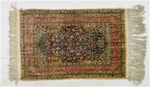 Very Fine Silk Persian Qom Oriental Rug w/Tight Knots