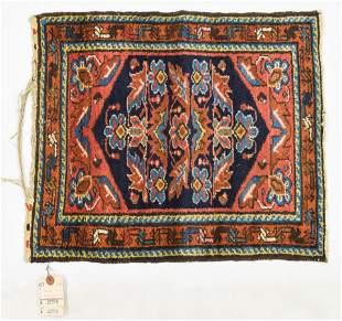 Fine Small Persian Oriental Geometric Rug