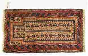 Double Warp Iran Geometric Prayer Carpet Rug