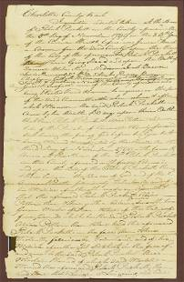 Framed Handwritten 18thC Death Document 1799