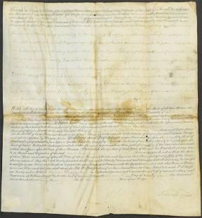 Autograph, Francis Fauquier Signed 1763 Virginia Doc't