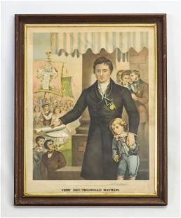 "J.H. Buffords ""Very Rev. Theobald Mathew"" 1874 Litho"
