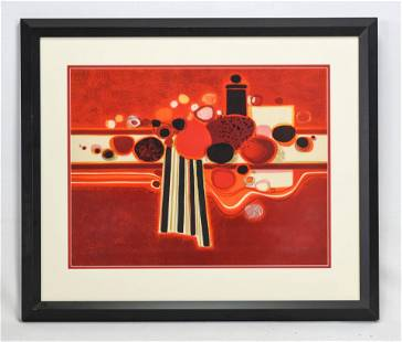 Menguy, Frederic. Abstract Lithograph ca.1960s.