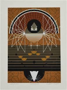 """Harper, Charles """"Wingding"""" 1985 Serigraph Print"""