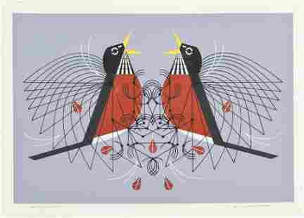 "Harper, Charles ""Round Robin"" 1972 Serigraph Print"