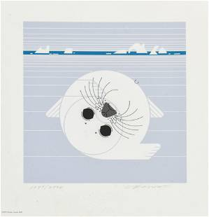 "Harper, Charles ""Whitecoat"" 1975 Serigraph Print"