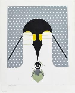 "Harper, Charles ""Br-r-r-r-rthday"" 1976 Serigraph Print"