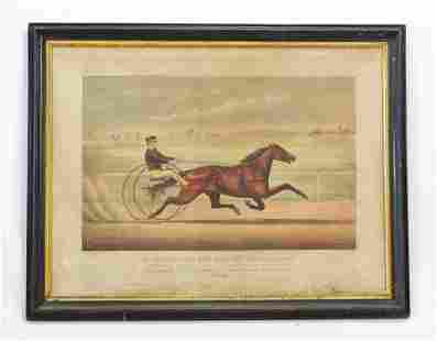 """Currier and Ives """"Mr. Bonner's Horse Joe"""" ca.1873"""